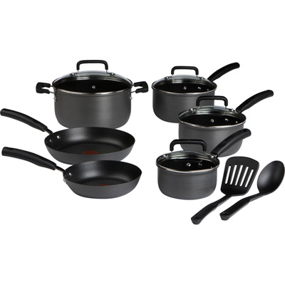 T-Fal Signature Hard Anodized 12 Cookware Piece Set